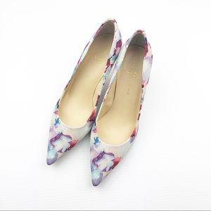 Ivanka Trump Shoes - Ivanka Trump Indico Floral Pumps Size 9M